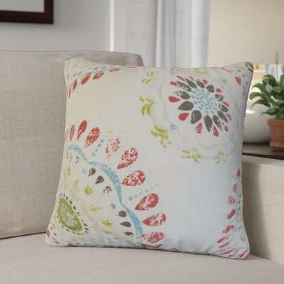 Chatterjee Geometric Cotton Throw Pillow Color: Coral