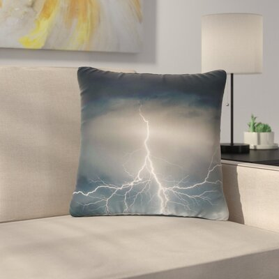 Lightning Storm Outdoor Throw Pillow Size: 16 H x 16 W x 5 D