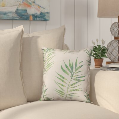 Risha Palm Leaf Size: 16 x 16, Type: Pillow Cover