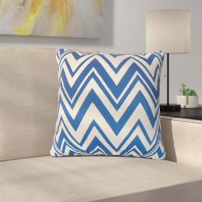 Roser Zigzag Cotton Throw Pillow Color: Blue
