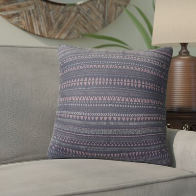 Byrne Throw Pillow Color: Blue/Pink/Purple, Size: 18 H x 18 W