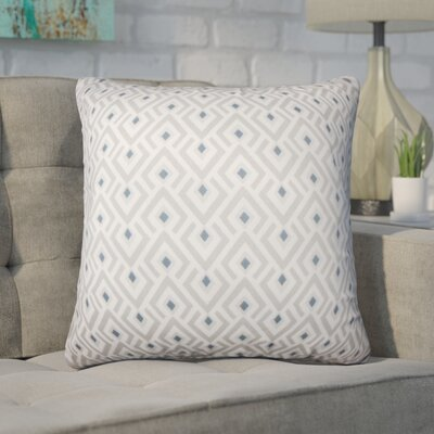 Hardeman Geometric Cotton Throw Pillow Size: 18 H x 18 W x 5 D, Color: Gray