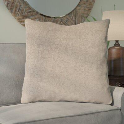 Tarsha Throw Pillow Color: Taupe