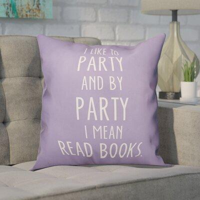 Crantor Book Party Throw Pillow