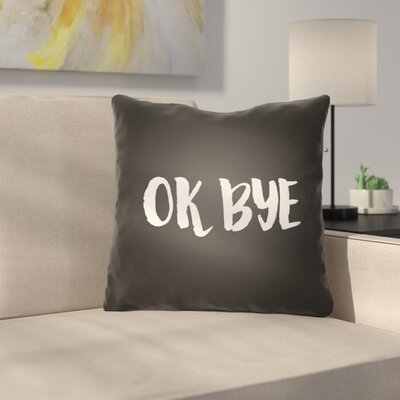 Indoor/OutdoorThrow Pillow Size: 18 H x 18 W x 4 D, Color: Black