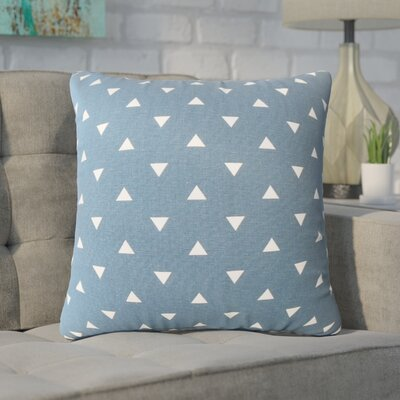 Wight Geometric Down Filled 100% Cotton Throw Pillow Size: 18 x 18, Color: Navy