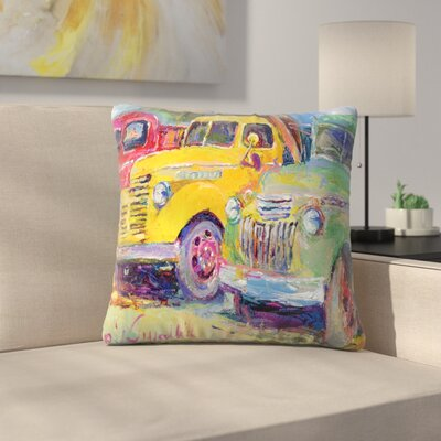 Trucks Throw Pillow Size: 14 x 14