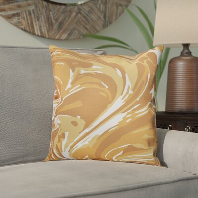 Willa M�lange Geometric Outdoor Throw Pillow Size: 18 H x 18 W, Color: Gold