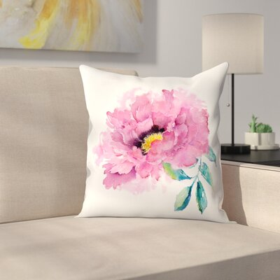 Peony Throw Pillow Size: 18 x 18