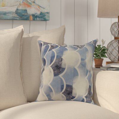 Crider Geometric Print Indoor/Outdoor Throw Pillow Color: Blue, Size: 18 x 18