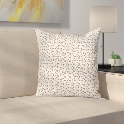Big Small Drops Spots Square Pillow Cover Size: 24 x 24