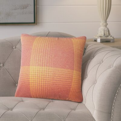 Gladding Plaid Cotton Throw Pillow Color: Persimmon