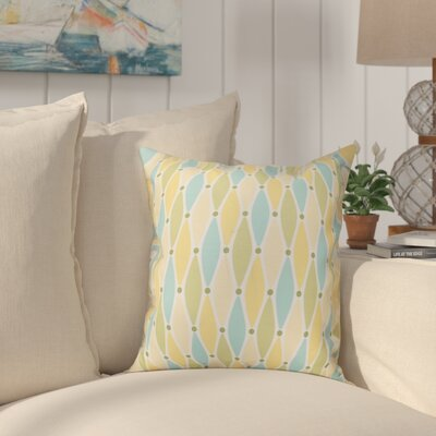 Cedarville Wavy Geometric Print Throw Pillow Size: 16 H x 16 W, Color: Yellow