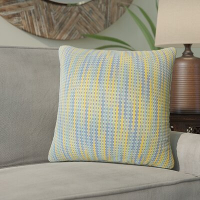 Gardena Striped Down Filled 100% Cotton Throw Pillow Size: 20 x 20, Color: Capri