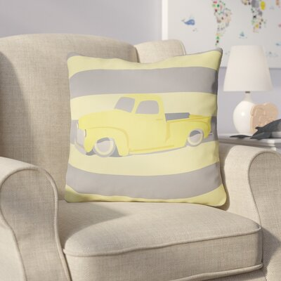 Colinda Car Throw Pillow Size: 22 H �x 22 W x 5 D, Color: Yellow/Grey