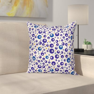 Waterproof Floral Graphic Print Pillow Cover Size: 16 x 16