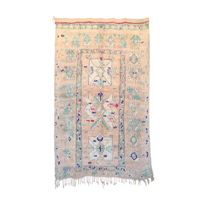 One-of-a-Kind Talsint Moroccan Hand-Knotted Wool Gray/Beige Area Rug