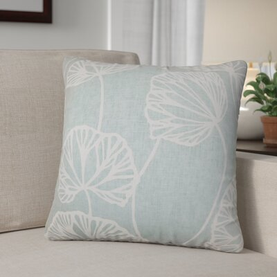 Conti Floral Cotton Throw Pillow Color: Blue