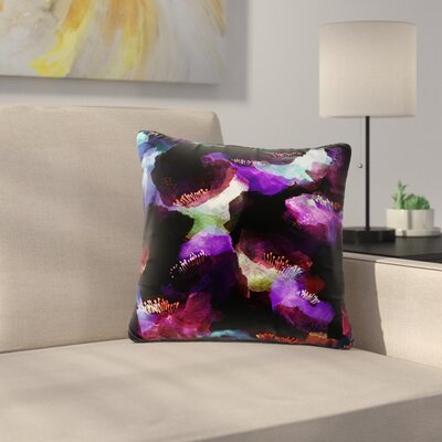 Jessica Wilde Poppy Abstract Outdoor Throw Pillow Size: 16 H x 16 W x 5 D