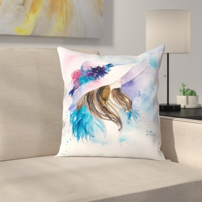 Ascot Lady 2 Throw Pillow Size: 18 x 18