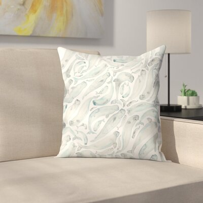 Elena ONeill Belugas Throw Pillow Size: 18 x 18