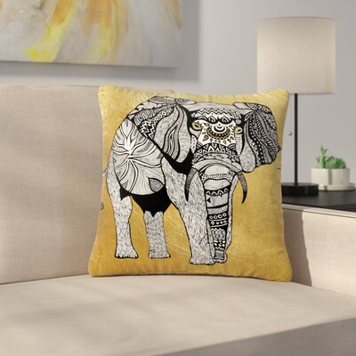 Pom Graphic Design Elephant Outdoor Throw Pillow Size: 18 H x 18 W x 5 D