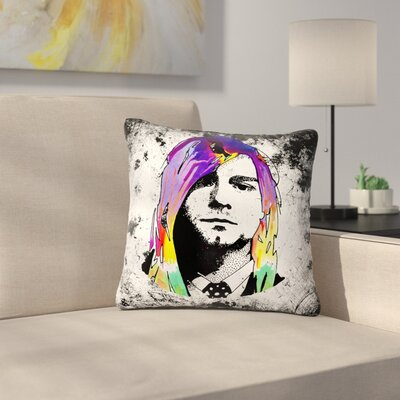 Ivan Joh Grunge Pop Art Lavender Outdoor Throw Pillow Size: 16 H x 16 W x 5 D