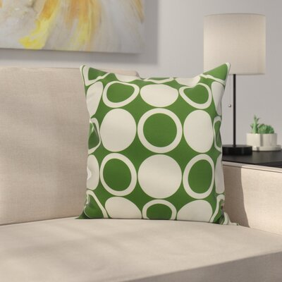 Meekins Small Modcircles Geometric Print Indoor/Outdoor Throw Pillow Color: Green, Size: 16 x 16