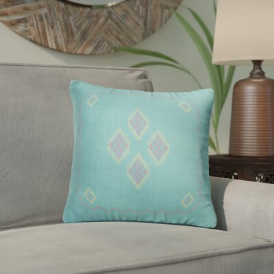 Stellan Accent Throw Pillow Color: Aqua, Size: 16 x 16