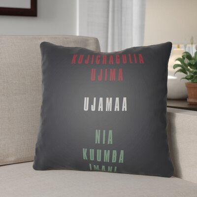 Indoor/Outdoor Throw Pillow Size: 20 H x 20 W x 4 D, Color: Black/Red/White/Green