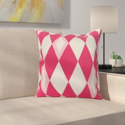 Meehan Geometric Print Indoor/Outdoor Throw Pillow Color: Pink/Fushcia, Size: 18 x 18