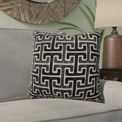 Mulvaney Cotton Throw Pillow Color: Onyx