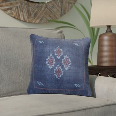 Stellan Kilim Throw Pillow Color: Navy/ Red/ Blue, Size: 18 x 18