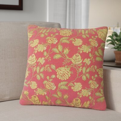 Carmena Floral Down Filled 100% Cotton Throw Pillow Size: 24 x 24