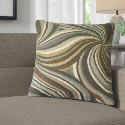 Aliya Graphic Cotton Throw Pillow Color: Amber