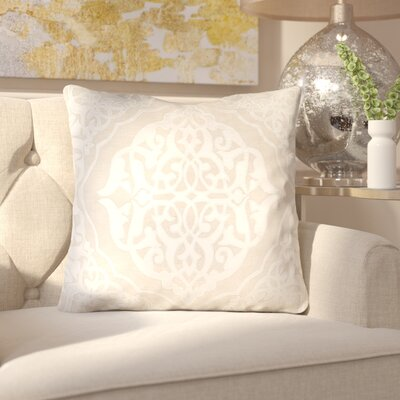 Dylan Throw Pillow Size: 18 H x 18 W x 4 D, Color: Khaki/Ivory