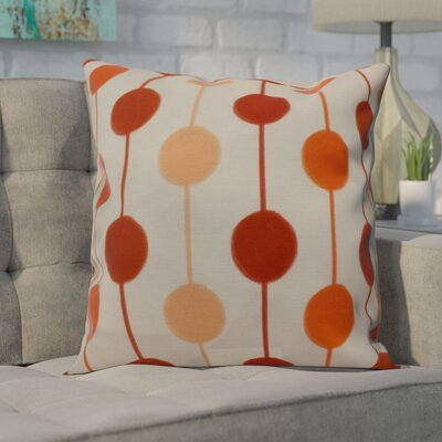 Leal Brady Beads Indoor/Outdoor Throw Pillow Size: 20 H x 20 W, Color: Orange
