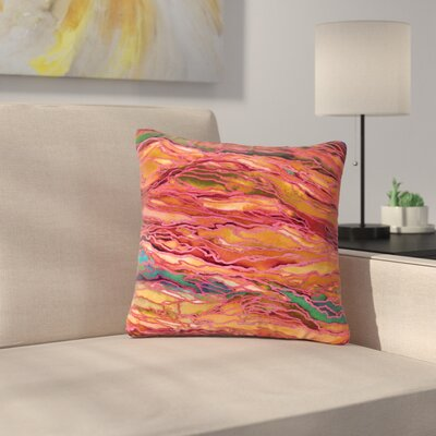 Marble Idea! Throw Pillow Size: 18 H x 18 W x 6 D, Color: Orange / Red