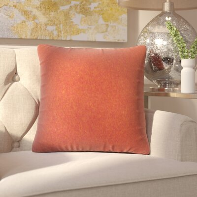 Ambriz Solid Throw Pillow Color: Red