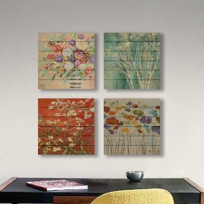 'Vibrant Bouquet' Print on Wood F53257B818B9430B8248658930DE64FB