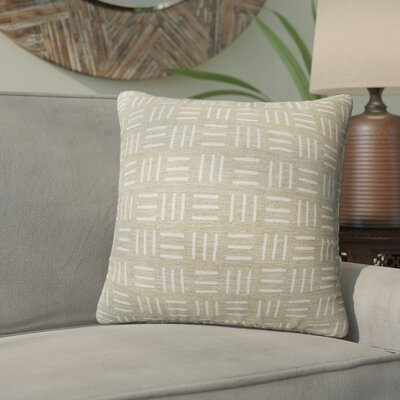 Bemelle Mud Cloth Square Throw Pillow Size: 24 H x 24 W, Color: Taupe/ Ivory