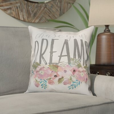 Ornellas Chase Your Dreams Flowers Throw Pillow