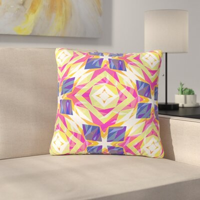 Miranda Mol Dancing Tiles Indigo Outdoor Throw Pillow Size: 18 H x 18 W x 5 D