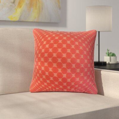 Plyler Solid Cotton Throw Pillow Color: Cherry