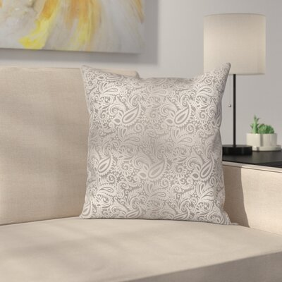 Royal Paisley Pattern Square Cushion Pillow Cover Size: 20 x 20