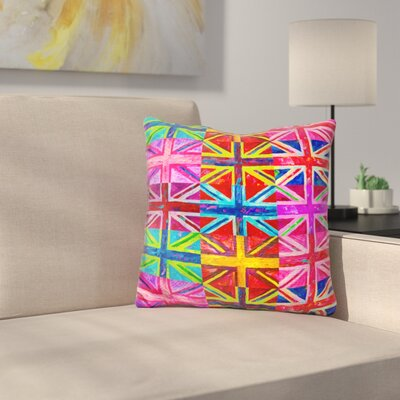 Union Jacks Throw Pillow