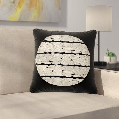 Pom Graphic Design La Luna Illustration Outdoor Throw Pillow Size: 16 H x 16 W x 5 D