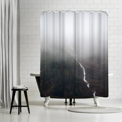Annie Bailey Fall Falling Shower Curtain