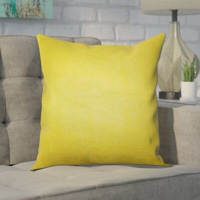 Portsmouth Solid Burlap Throw Pillow Color: Yellow, Size: 20 H x  20 W