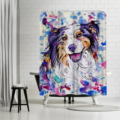 Eve Izzett Aussie Shepherd III Shower Curtain